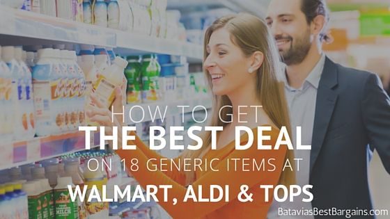 best deal on generic items at walmart, tops, aldi