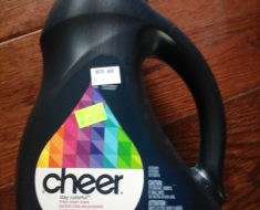 Cheer $1.74 at Rite Aid, no coupon needed, more clearance