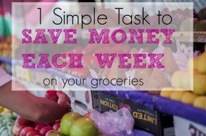 1 task to save money on groceris