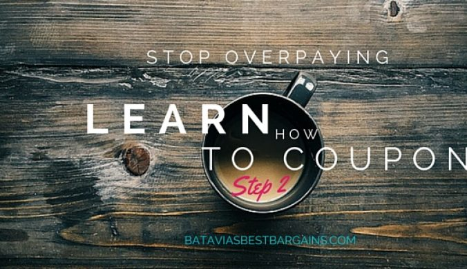learn how to coupon step 2