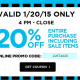 Michaels 20% off sale purchase