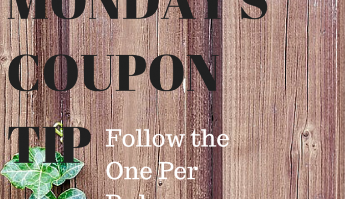 MOnday's Coupon Tip of the day