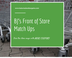 bjs front of store coupon match ups
