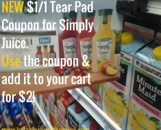*NEW* Simply Juice $2 at Tops with tear pad