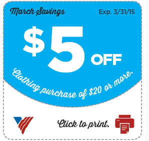Volunteers of America: New Printable Coupons for March