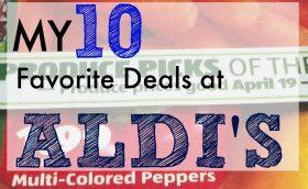 10 fav. deals at aldis 4/19