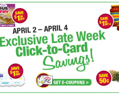 TOPS: Late week Click to card coupons