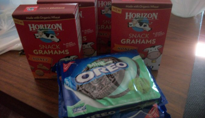 target deal oreos and horizon snacks