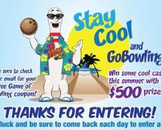 free game of bowling coupon