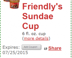 free friendly's ice cream at tops