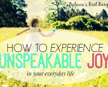 how to experience joy