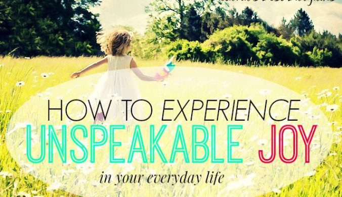 how to experience joy