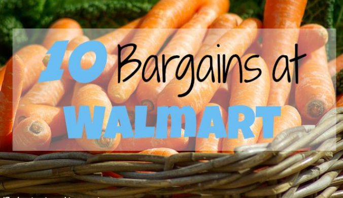 10 bargains at walmart 8/9
