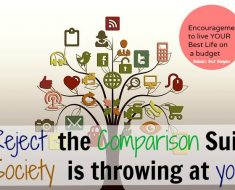 reject comparisons in your budget living life