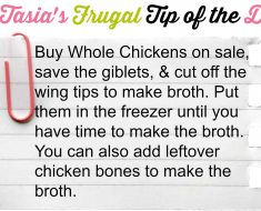 tasia's frugal tip of the day