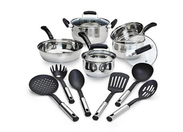 14 piece stainless steel pot set