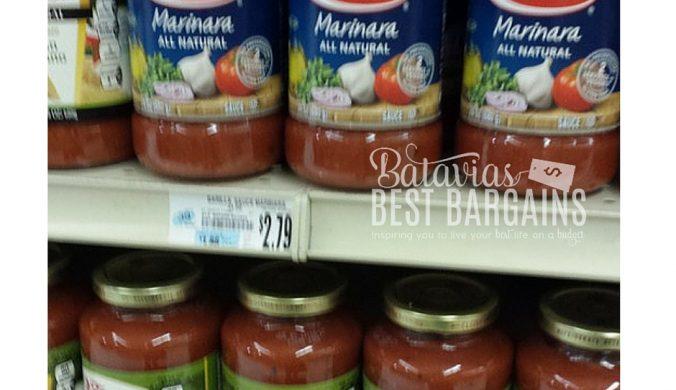 barilla marinara sauce sale tops