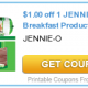 jennie o coupon