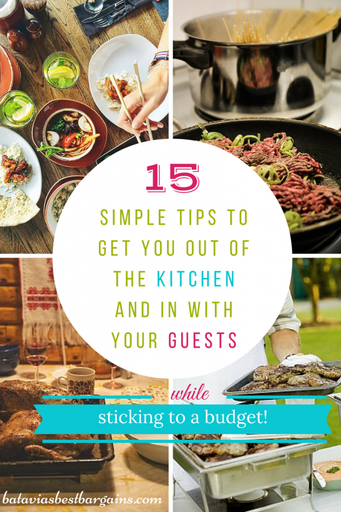 15 simple tips to get you out of kitchen entertain on budget