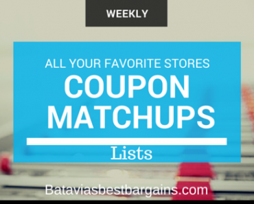coupon matchup lists