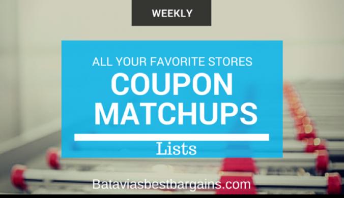 coupon matchup lists