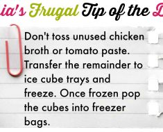 tasias frugal tip of the day