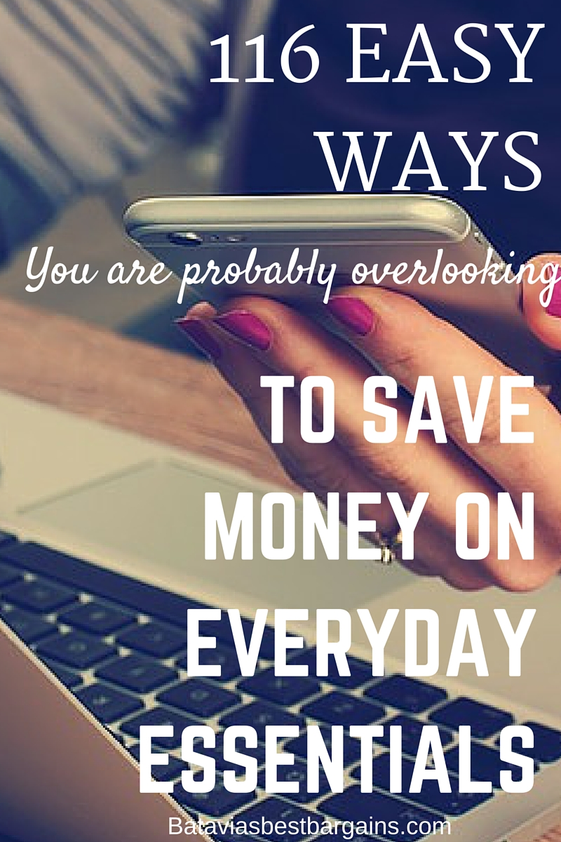 116 easy ways to save money