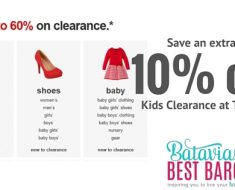 Save an extra 10% off Kids Clearance Items at Target