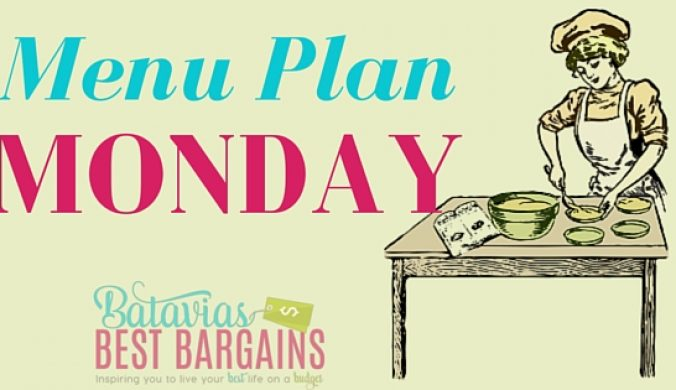 menu plan monday- get inspired to cook your own meals