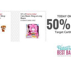 save 50% on care bears target