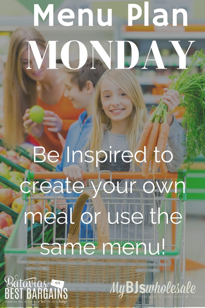 how to menu plan and recipe ideas on mondays