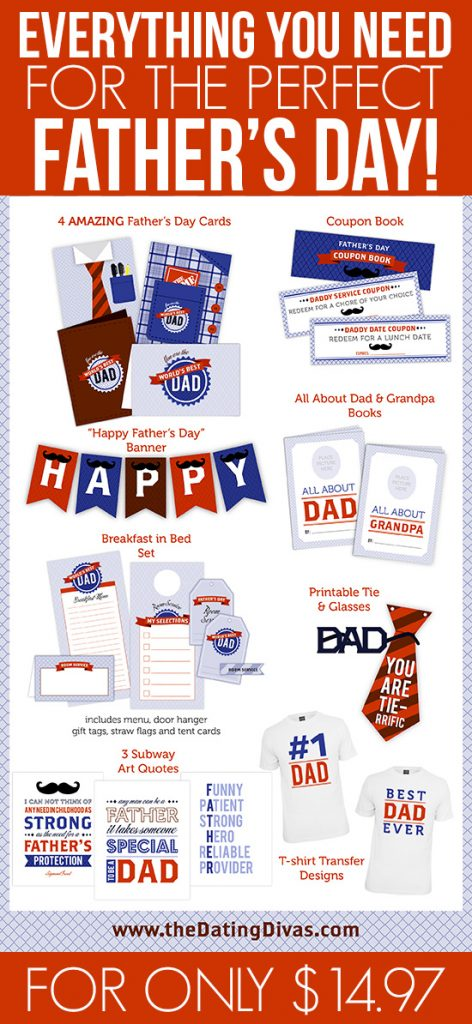 fathers day printable pack deal