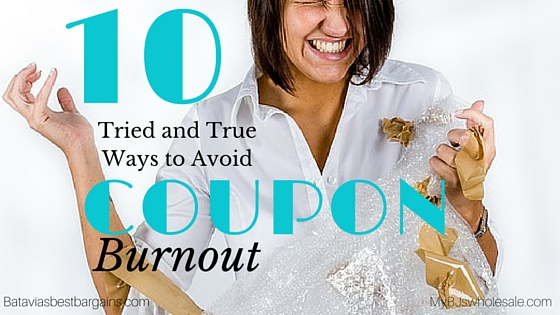 10 tried and true ways to avoid coupon burnout