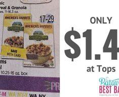 csacadian farms organic cereal deal at tops