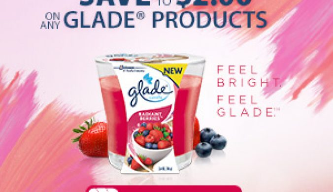 glade daily break coupon and chance to win $500