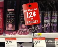 loreal hair care products only $0.12 at Target