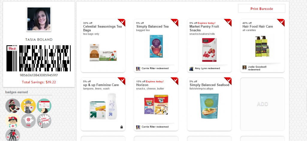 target print barcode with cartwheel app