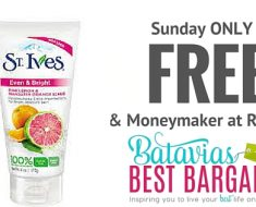 free st. ives scrub at rite aid