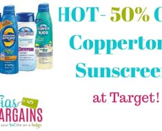 half off coppertone sunscreen at target with new coupon 2016