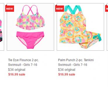 girls swim wear jcpenny deal