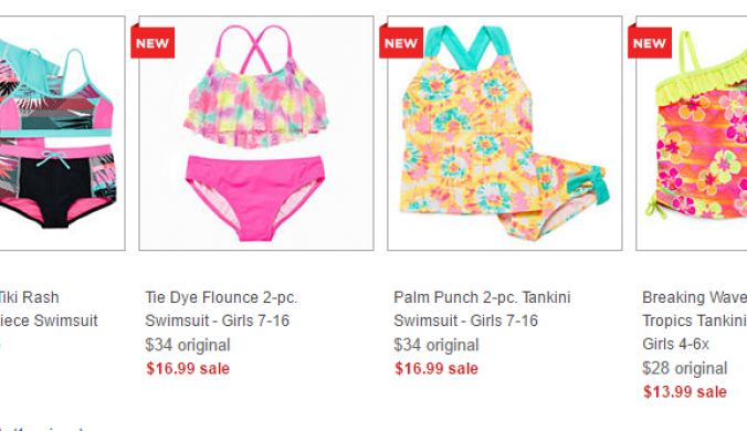 girls swim wear jcpenny deal