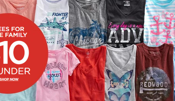 $10 and under t shirts at Kohls