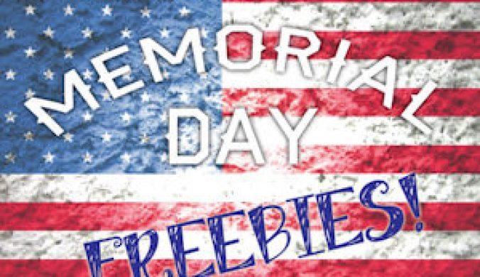 memorial day freebies 2016