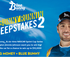 blue blunny ice cream sweeps and coupon