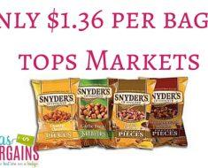 snyder's pretzels deals -at-tops-markets