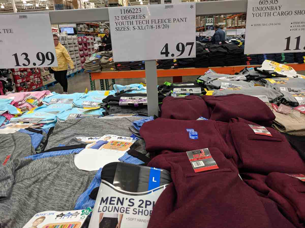 fleece pants at costco