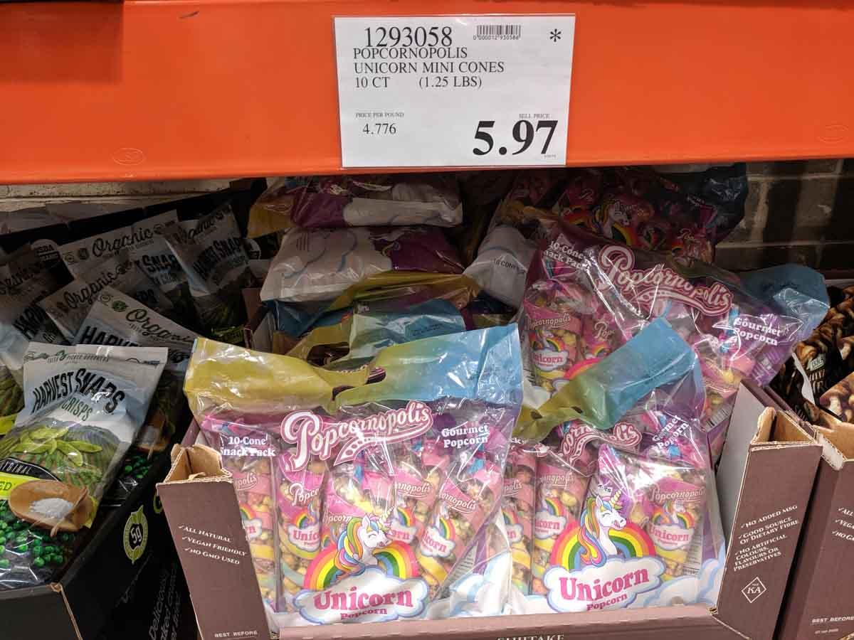 Popcornopolis Unicorn Mini Cones $5.97