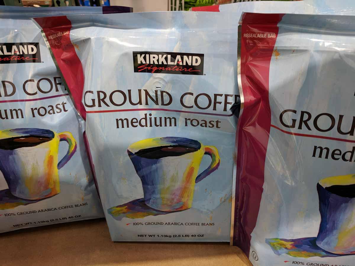 Kirkland Medium Roast Ground Coffee Costco MyWholesaleLIfe