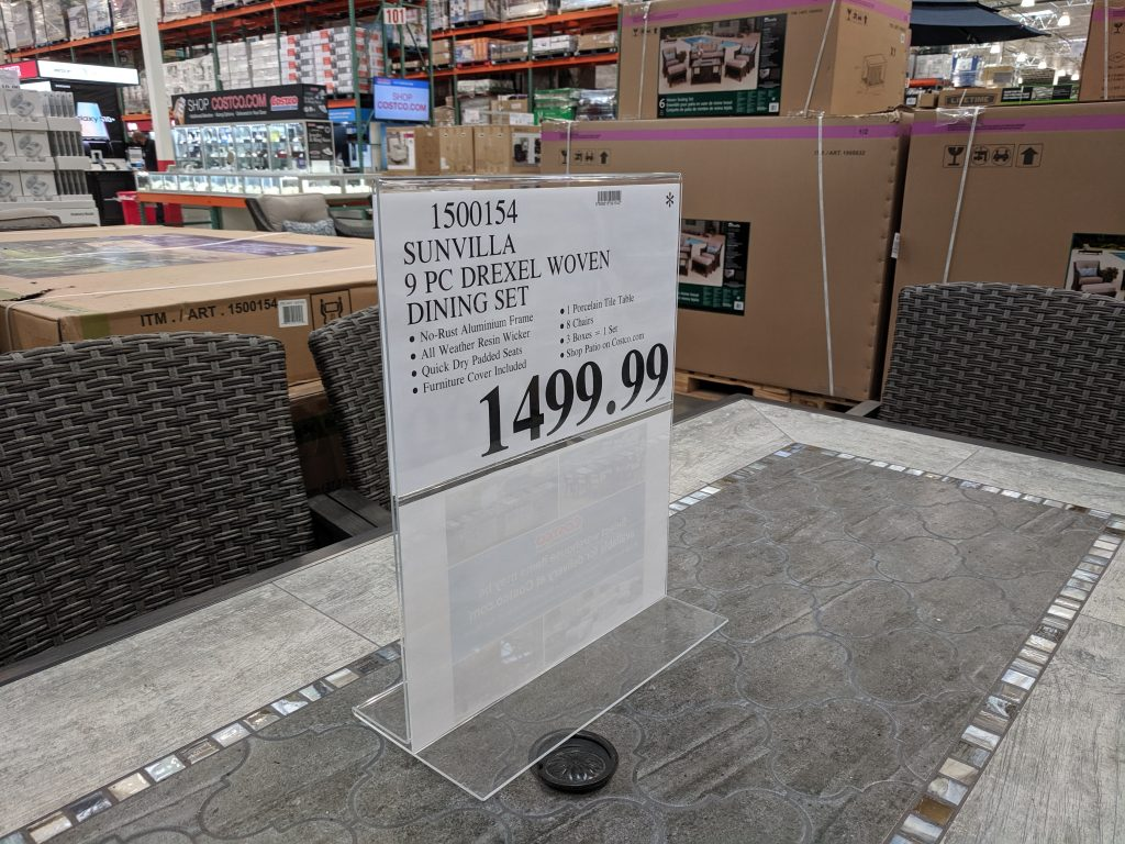 costco patio furniture dining set