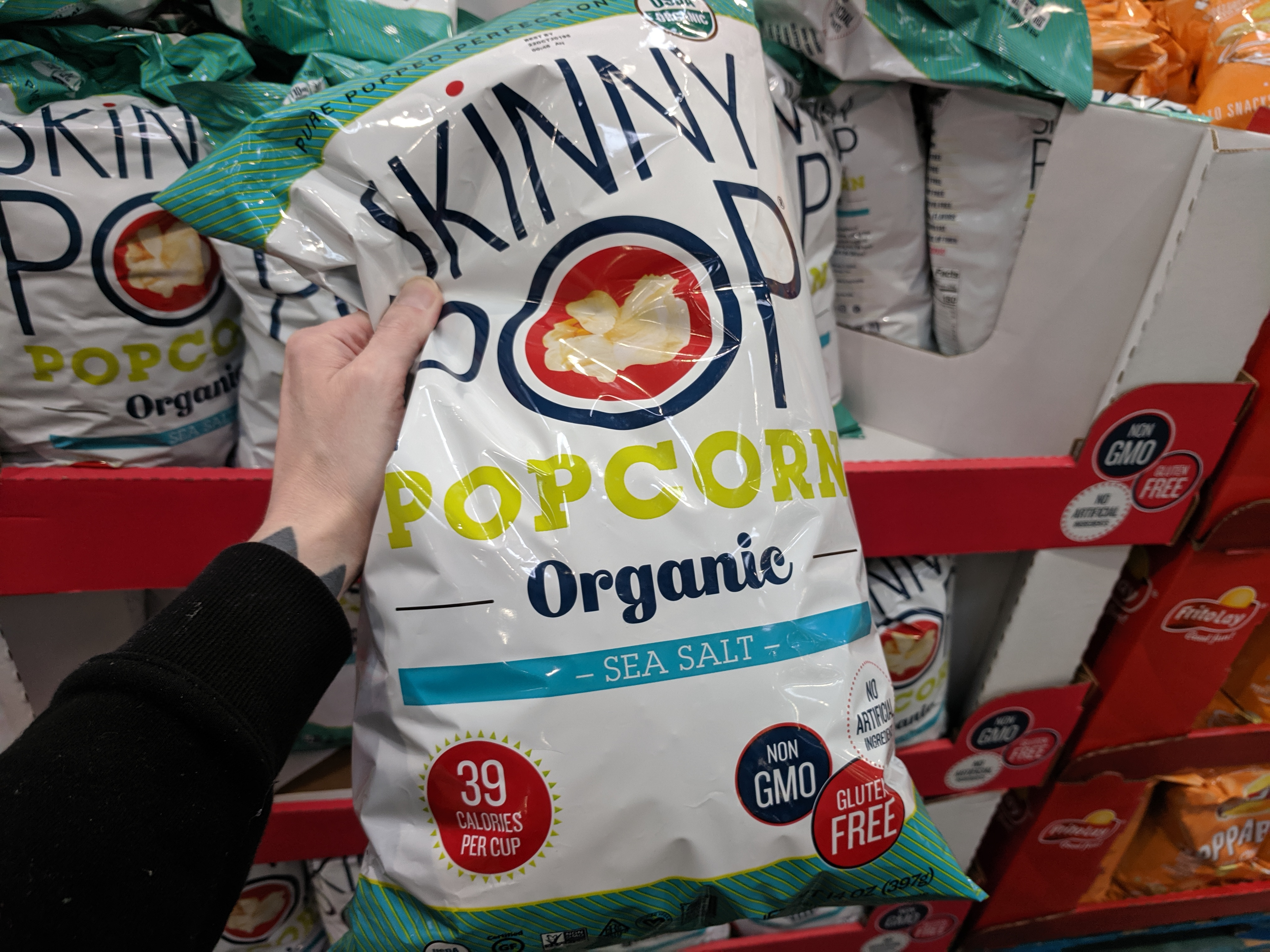 Organic Skinny Pop Popcorn 14oz $4.49